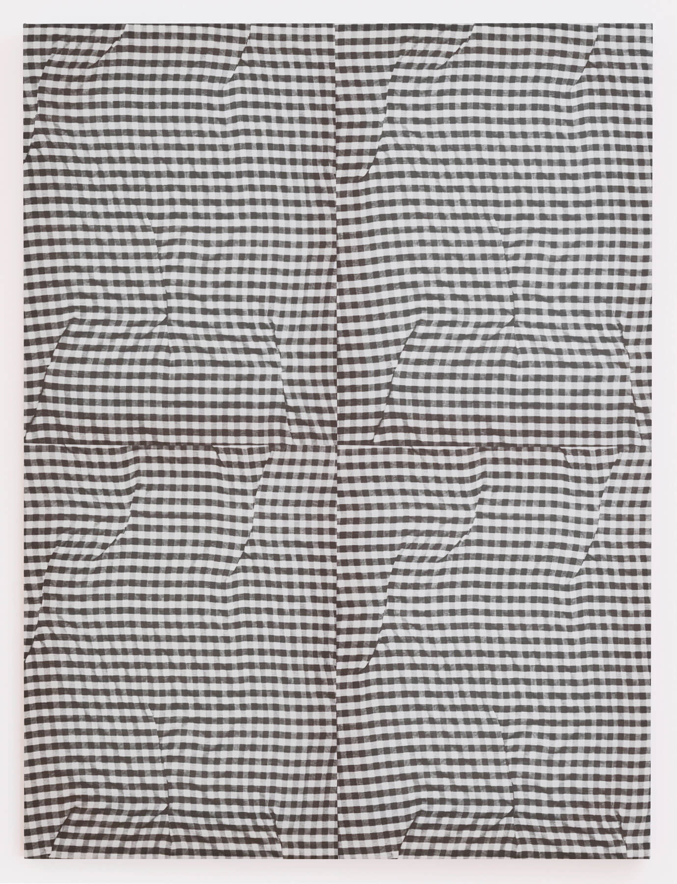 Cheryl Donegan                                             'Untitled (grey folds)', 2014                                             48 x 36 Inches                                             dyed cotton