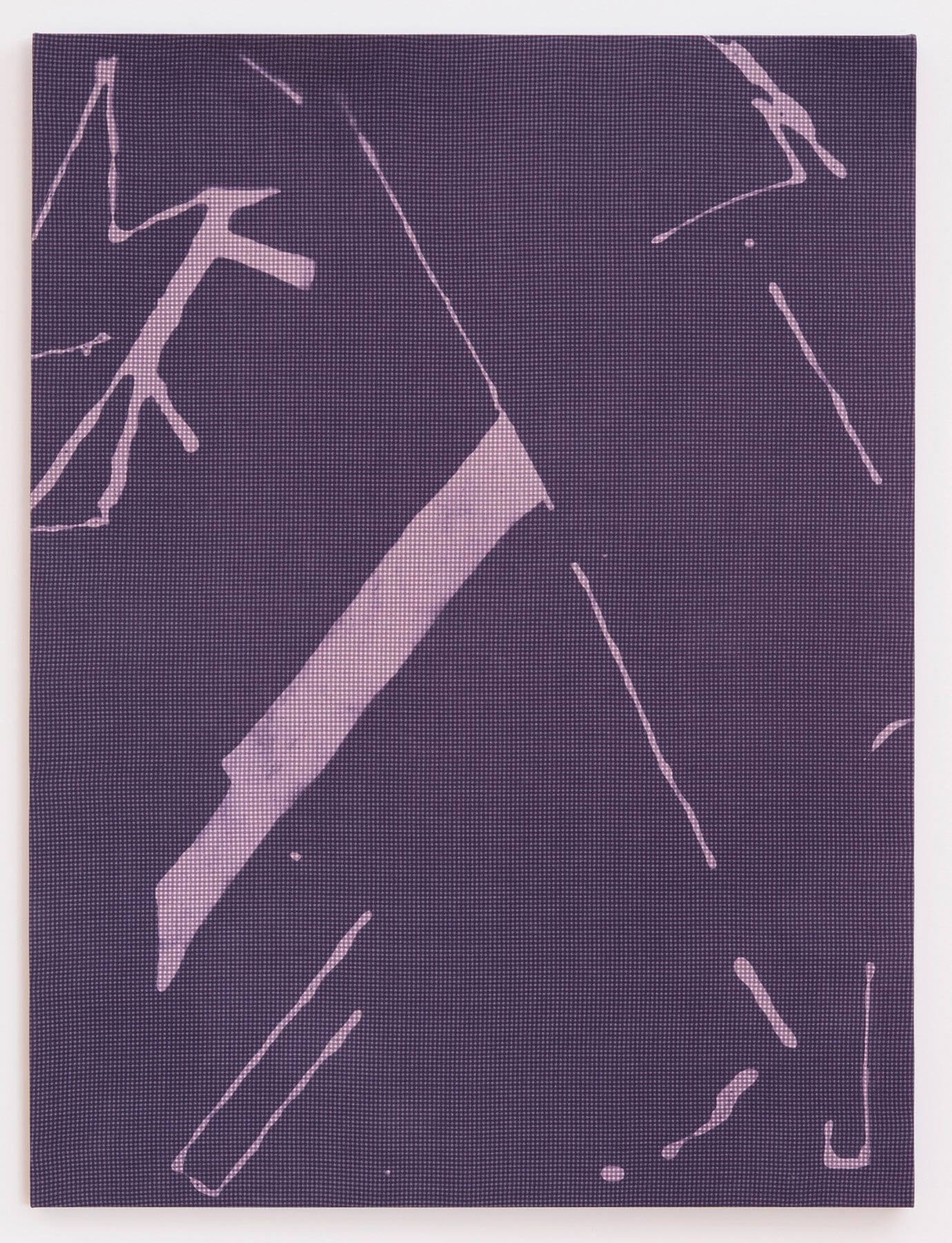 Cheryl Donegan                                             'Untitled Resist (faded navy and pink)', 2014                                             48 x 36 Inches                                             dyed cotton